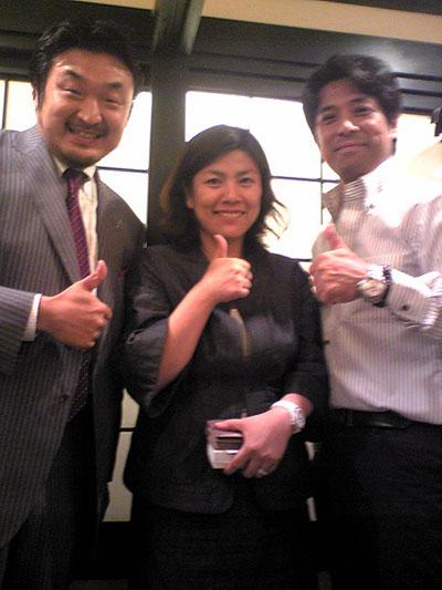 西村貴好さんと鶴岡秀子さん